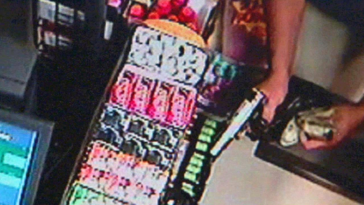 A still from surveillance footage of a robbery in the San Fernando Valley in September 2014.