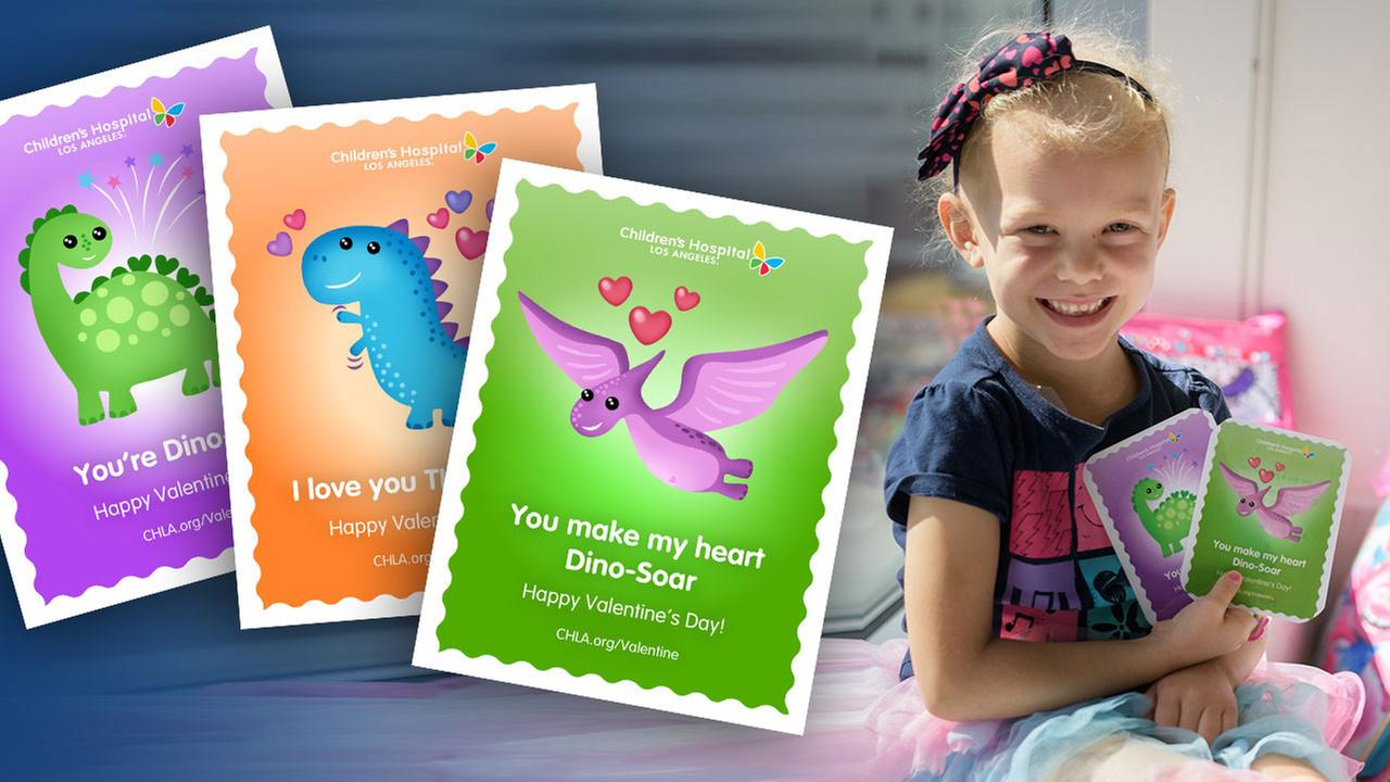 Send a Valentine's Day card to a patient at Children's Hospital Los Angeles