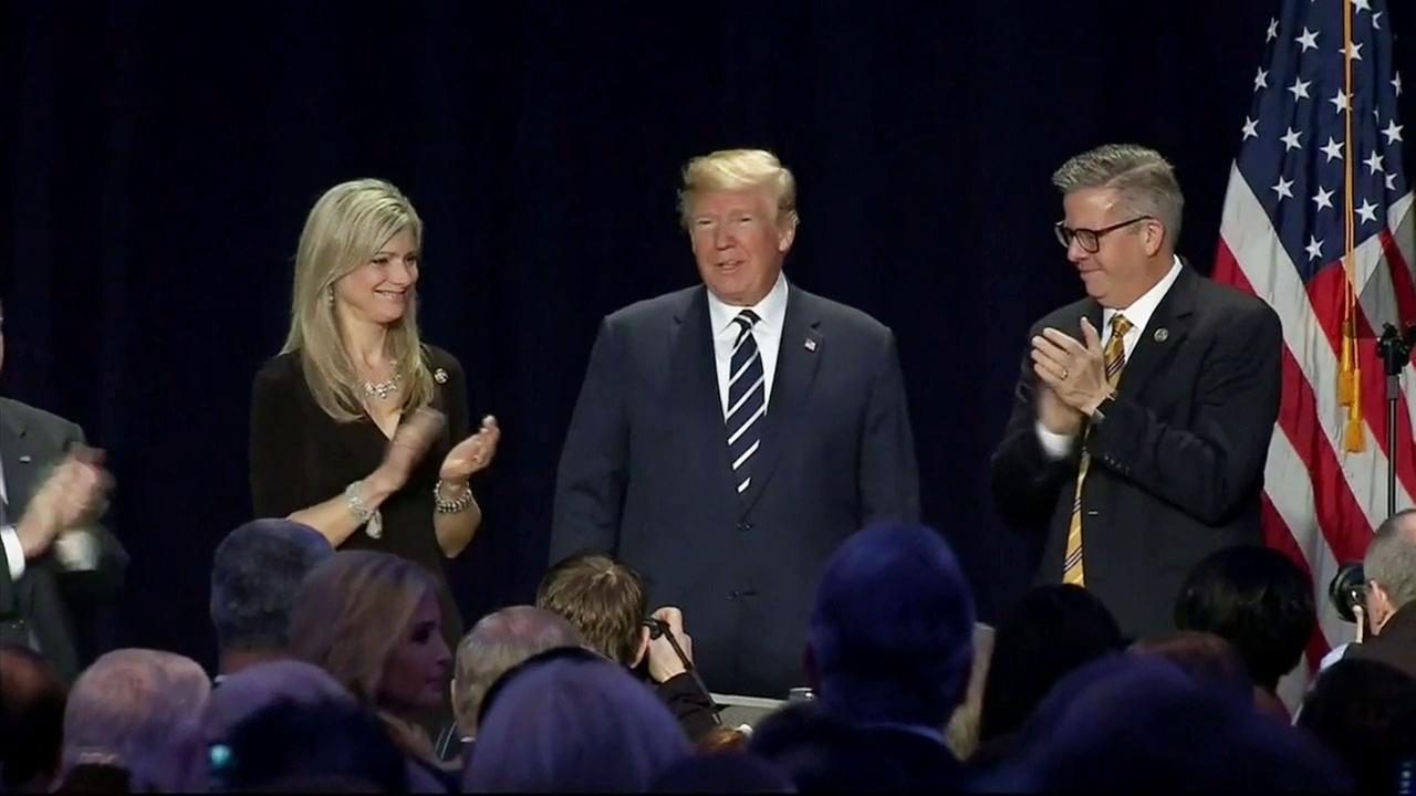 Trump cites the 'power of prayer' at 66th National Prayer Breakfast speech