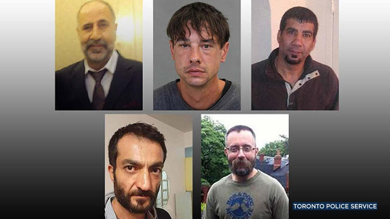 Photos provided by the Toronto Police Service show five men Toronto landscaper Bruce McArthur is accused of killing: (Clockwise from left) Majeed Kayhan; Dean Lisowick; Soroush Marmudi; Selim Esen; and Andrew Kinsman.