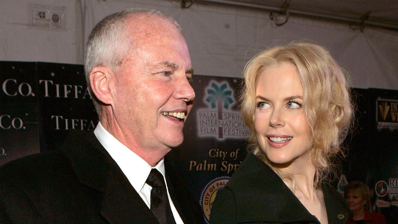 In this Jan. 8, 2005 photo, psychologist Anthony Kidman, left, and his daughter, actress Nicole Kidman, arrive to the Palm Springs International Film Festival.