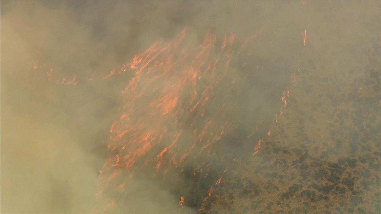 A brush fire erupted in Orange Countys Cleveland National Forest on Friday, Sept. 12, 2014.