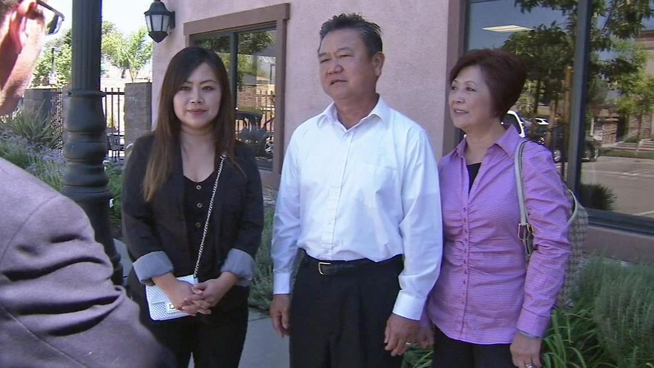 The Yik family is seen in Rancho Cucamonga on Friday, Sept. 12, 2014. They were awarded $39 million in a suit against East West Bank.