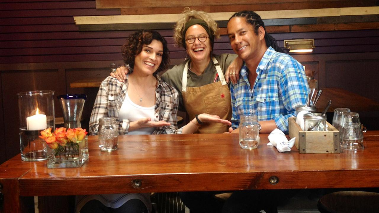 Eye on L.A.s Tina Malave with chefs Susan Feniger and Govind Armstrong.
