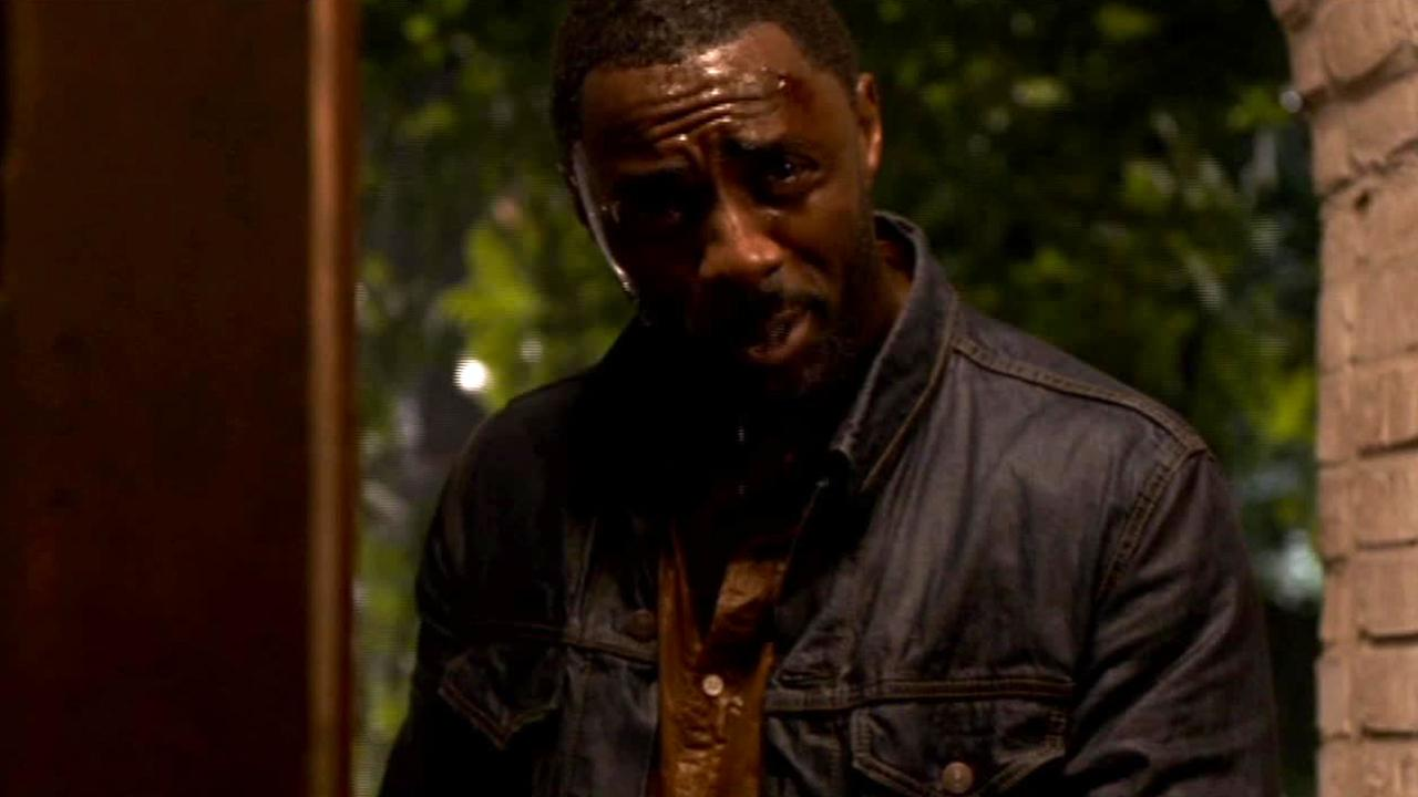 Actor Idris Elba is shown in this screenshot from his film No Good Deed.