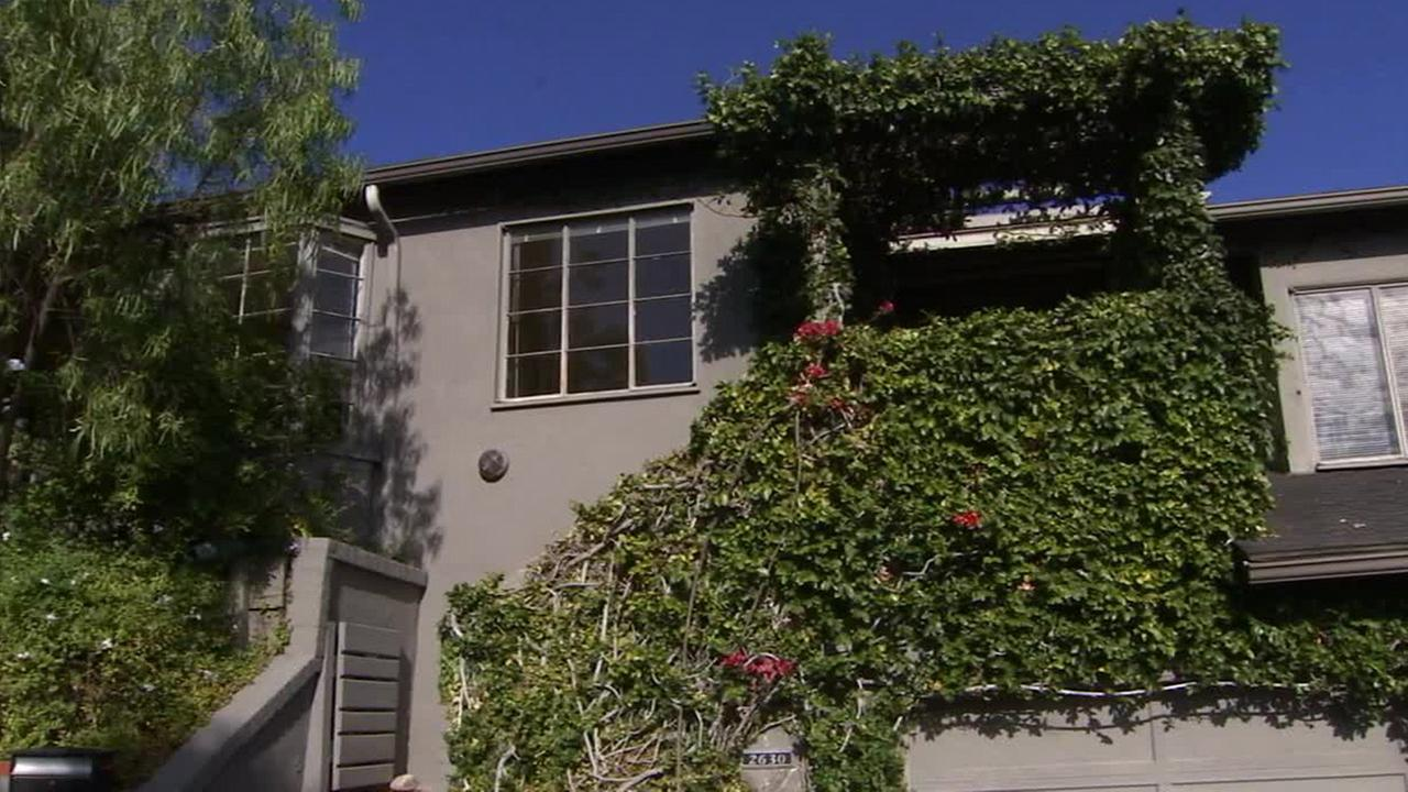 The Hollywood Hills home where a 60-year-old woman shot a male relative on Saturday, Sept. 13, 2014.