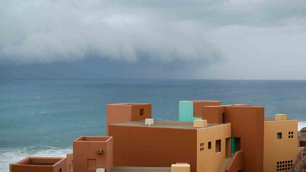 Hurricane Odile approaches Los Cabos, Mexico, Sunday, Sept. 14, 2014.