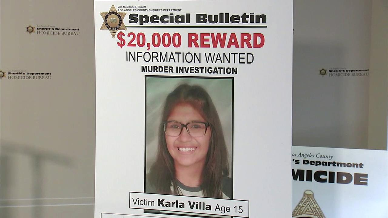 Sheriffs detectives on Thursday announced a $20,000 reward in the case of a 15-year-old girl who was fatally shot in the head in January in Covina.
