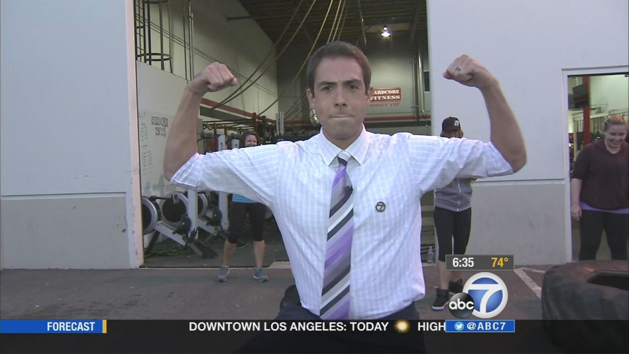Marc Cota-Robles reports from Hardcore Fitness Boot Camp in Santa Clarita on Sept. 15, 2014.