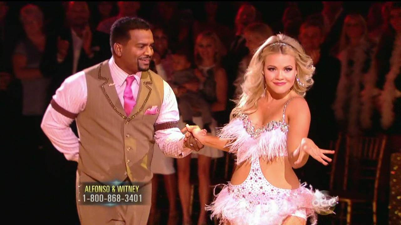 Alfonso Ribeiro and partner Witney Carson perform on Dancing With The Stars Season 19 premiere on Monday, Sept. 15, 2014.