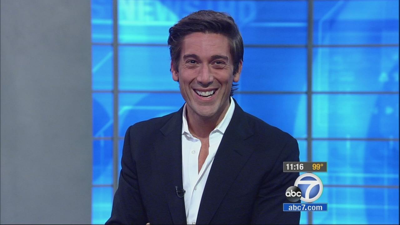 David Muir, who made his debut on World News Tonight earlier this month, joined Phillip Palmer and Leslie Sykes on Eyewitness News Tuesday, Sept. 16, 2014.