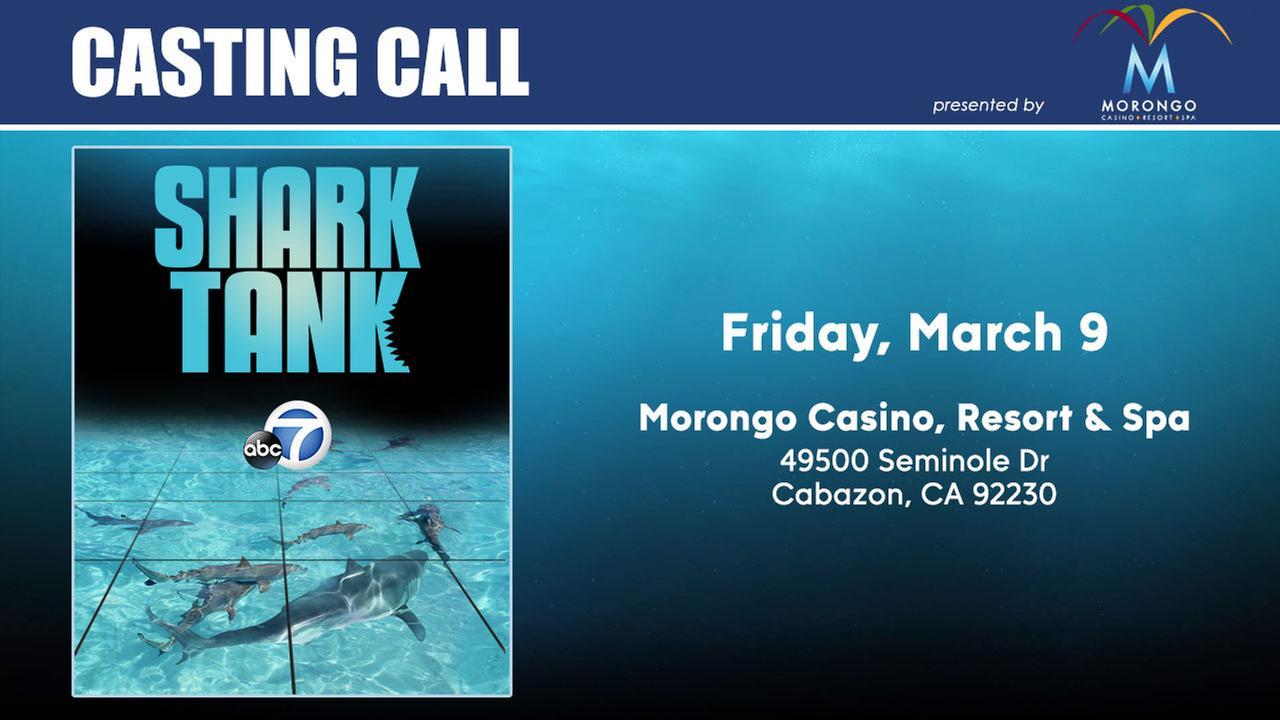"""Shark Tank"" casting team comes to Morongo Casino"