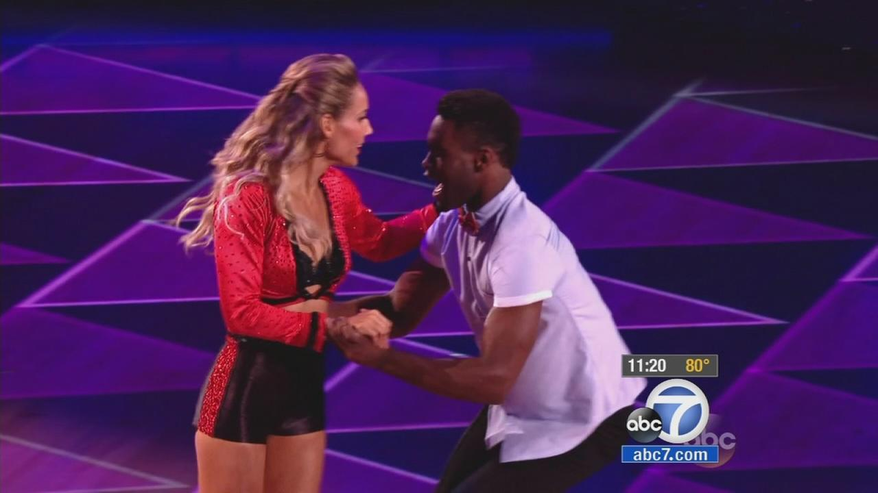 Dancing drama!  Who was the first couple booted off Dancing With The Stars Tuesday night?