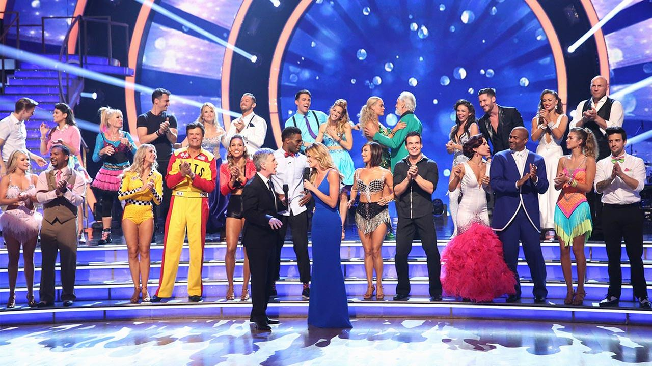 The season 19 couples appear on the Dancing With The Stars premiere on Monday, Sept. 15, 2014.