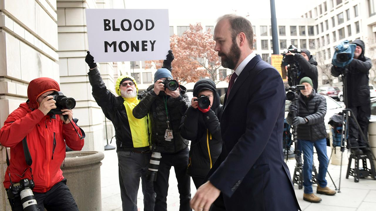 Rick Gates arrives at federal court in Washington, Friday, Feb. 23, 2018.