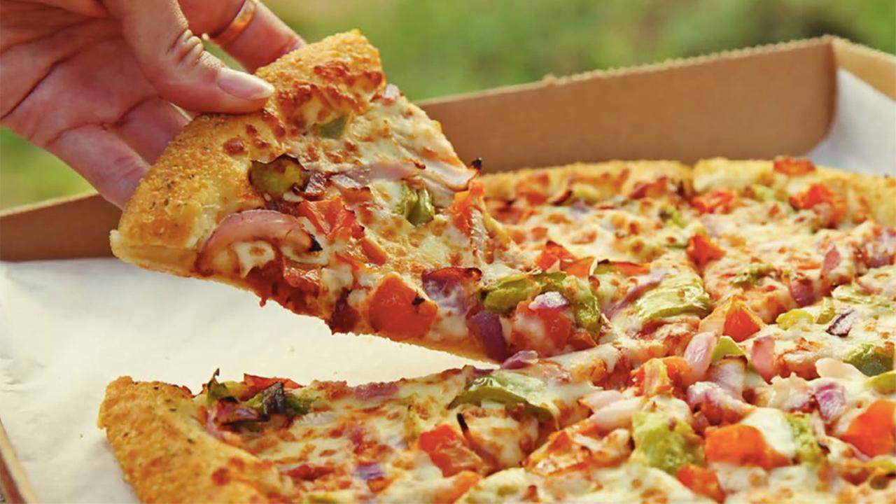 As a way to gain competitive footing and change up the menu, Pizza Hut is testing a lighter pizza in Toledo, Ohio and West Palm Beach, Florida. (Skinny Slice not pictured)