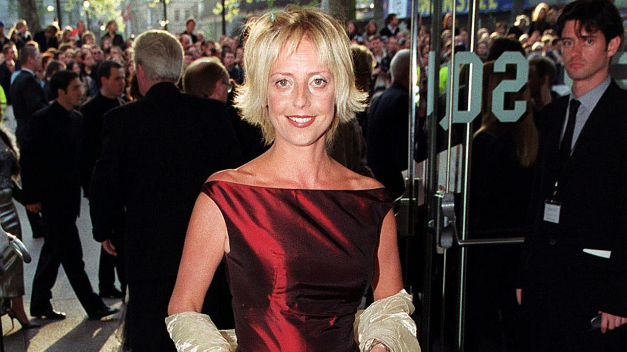 British actress Emma Chambers on the red carpet in London on April 27, 1999.