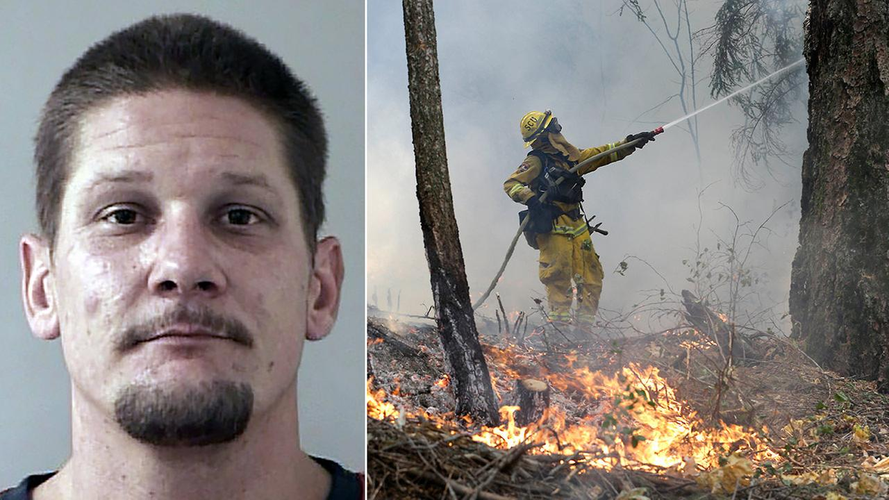 Wayne Allen Huntsman, 37, has been arrested on suspicion of arson in an out-of-control Northern California wildfire that has driven nearly 2,800 people from their homes.