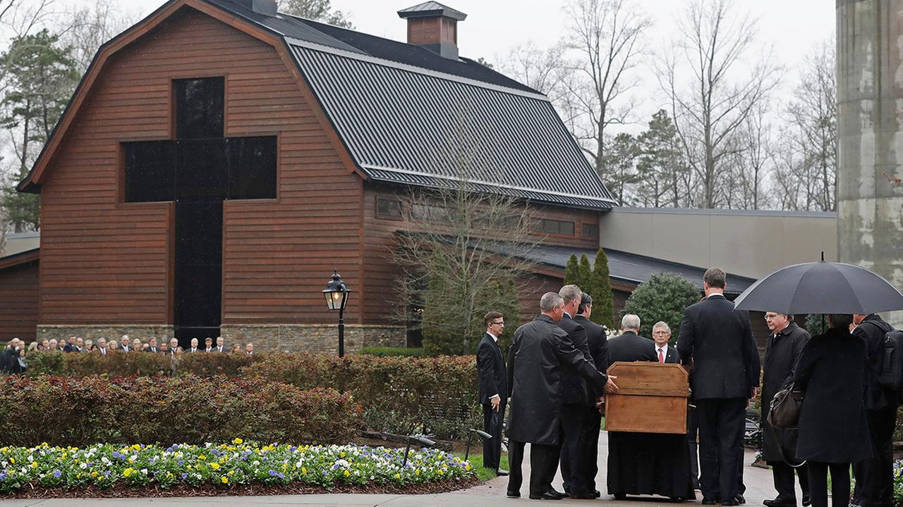 The Rev. Billy Graham Laid To Rest Friday In Simple Casket
