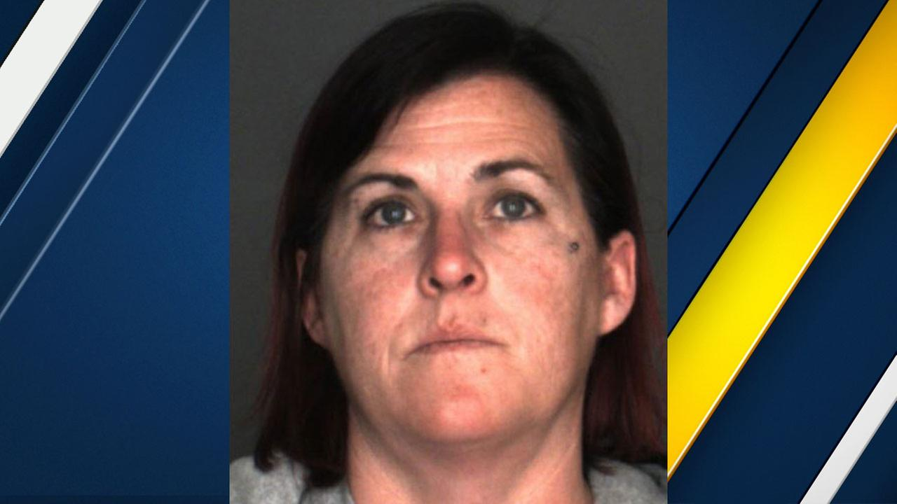 Caron Michele Escobar, a 43-year-old resident of Phelan and instructional associate at Chaparral High School who is accused of having a sexual relationship with two students.