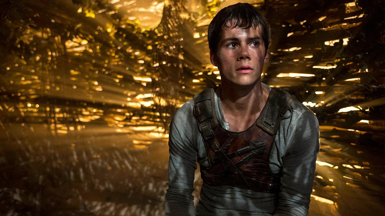 Dylan OBrien appears in a scene from the film, The Maze Runner.