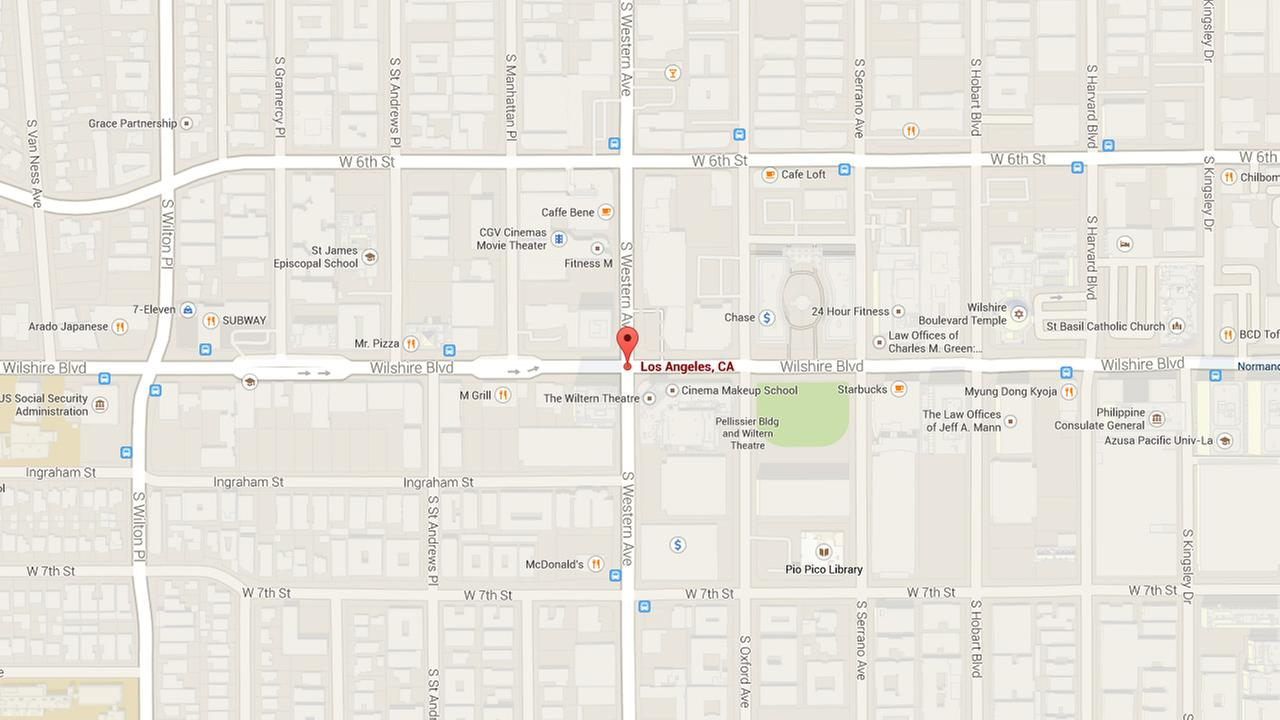 This Google Maps shows the corner where a 28-year-old man was shot while waiting for a bus on Sunday, Sept. 21, 2014.