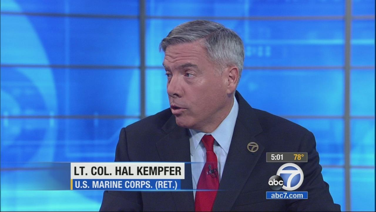 Retired Lt. Col. Hal Kempfer of the U.S. Marine Corps Reserve appears on Eyewitness News Tuesday, Sept. 23, 2014.