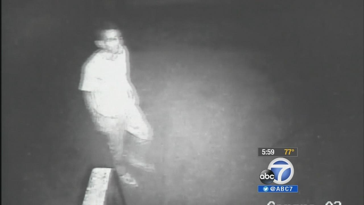 Authorities are asking for the publics help in identifying an intruder who was caught on camera outside a Pacoima home Saturday, Sept. 20, 2014.