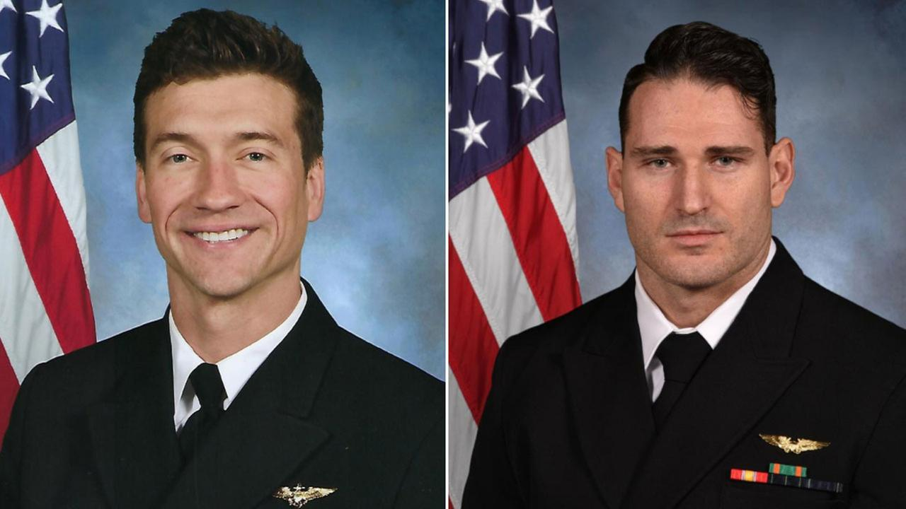 The aviators have been identified as Lt. Cmdr. James Brice Johnson and Lt. Caleb Nathaniel King, both Florida residents, Naval Air Forces said.