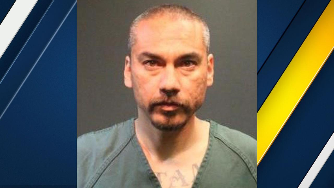 Gregorio Rojas, 44, was arrested after detectives pulled him over in Santa Ana and found a live grenade inside his car.