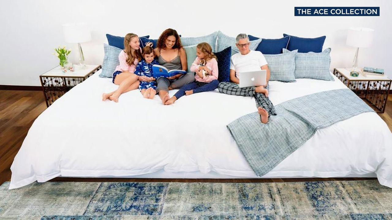The Ace Family Size mattress measures 12 feet wide.