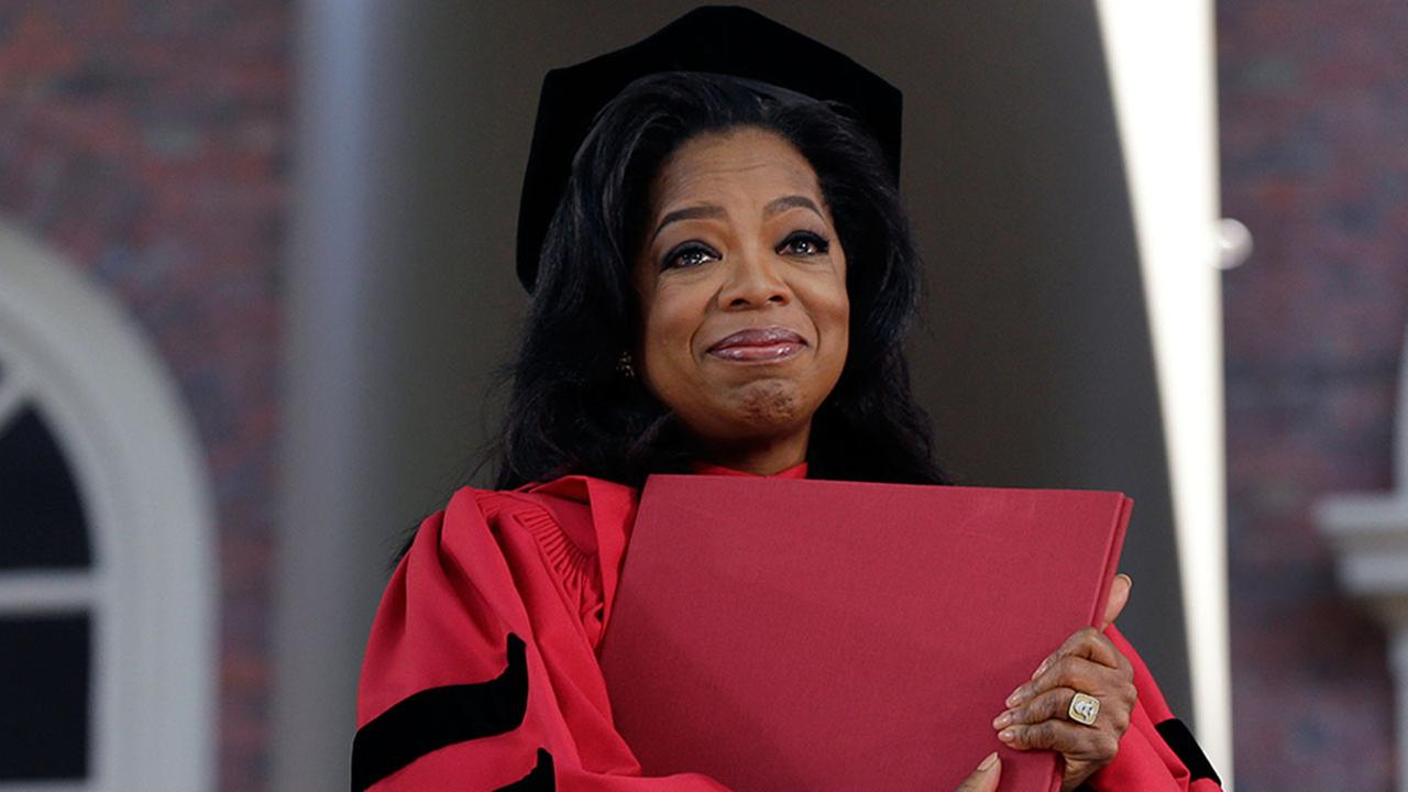 Oprah Winfrey spoke at Harvards 2013 commencement ceremonies.