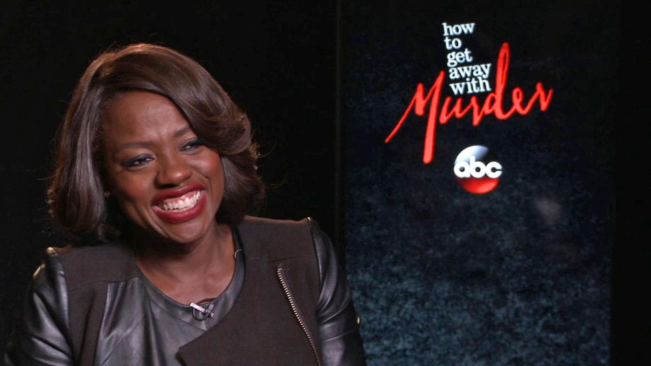 Actress Viola Davis laughs during an interview about her new ABC drama, How to Get Away with Murder.
