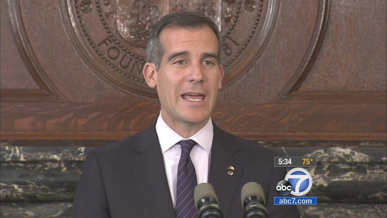 Los Angeles Mayor Garcetti unveiled his new $8.1-billion budget proposal on Monday, April 14, 2014.