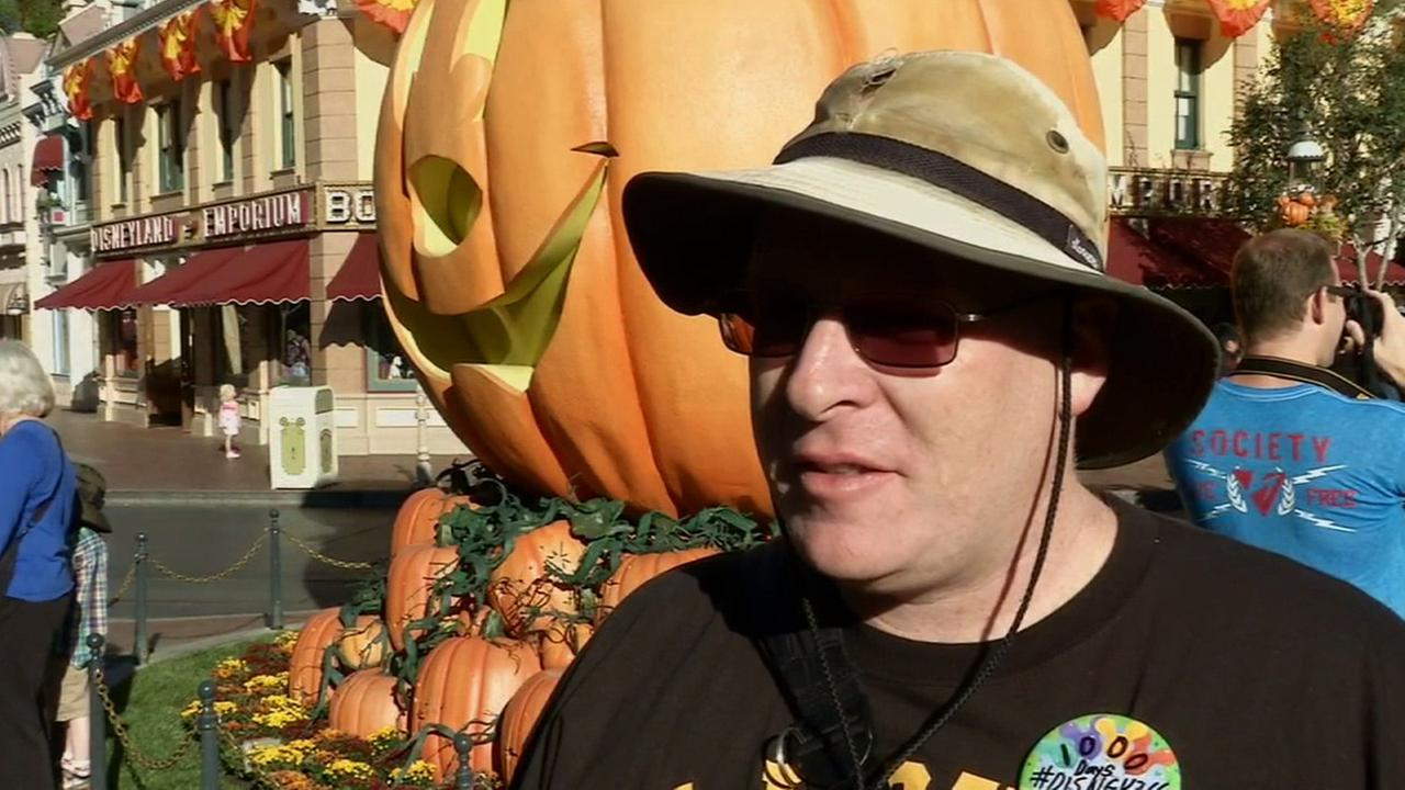 Jeff Reitz is seen at Disneyland on Friday, Sept. 26, 2014. He has visited the park for 1,000 days in a row.