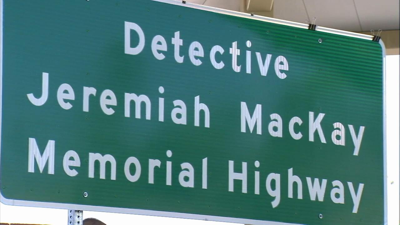 A stretch of Highway 38 in the San Bernardino Mountains has been renamed for Detective Jeremiah MacKay, one of the victims of fugitive ex-cop Christopher Dorner.