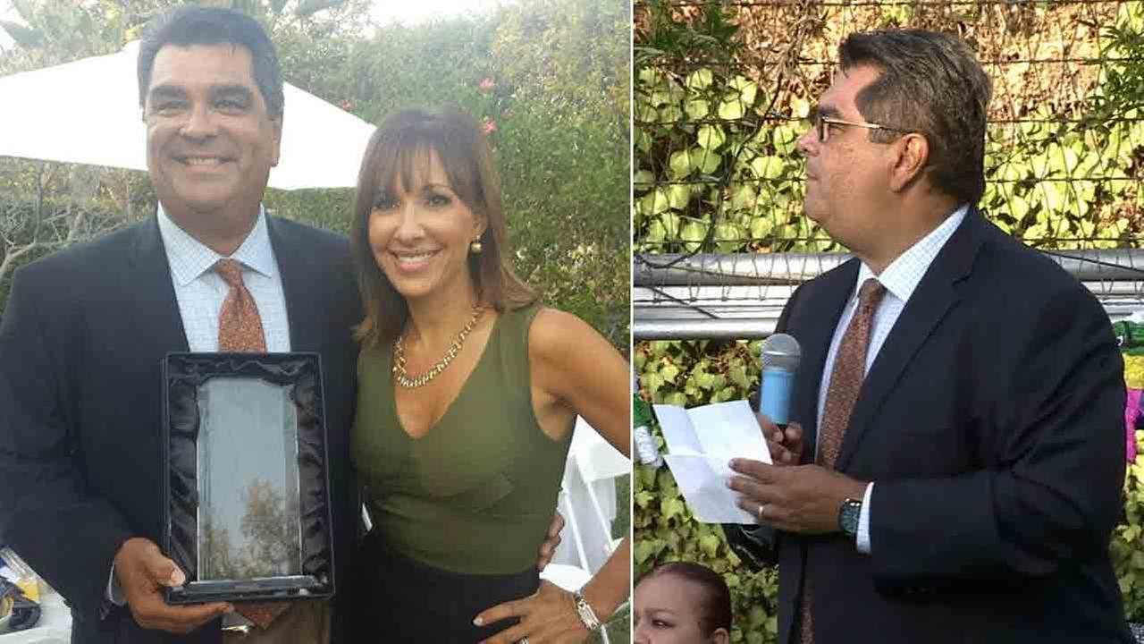 ABC7 reporter Sid Garcia was honored for giving back to the community at the Bilingual Foundation of the Arts fundraiser in San Marino Saturday, Sept. 27, 2014.