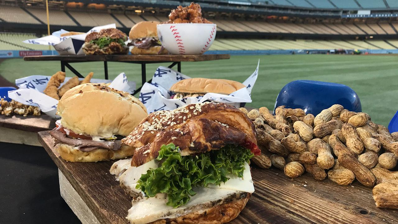 Opening Day of the baseball season means the debut of new food choices at Dodger Stadium.
