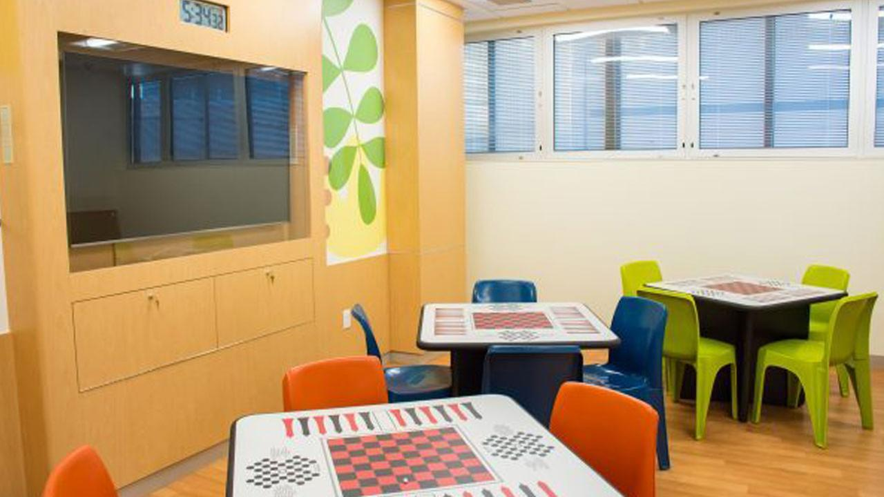An image shows a part of the new Mental Health Inpatient Center at Childrens Hospital Orange County.