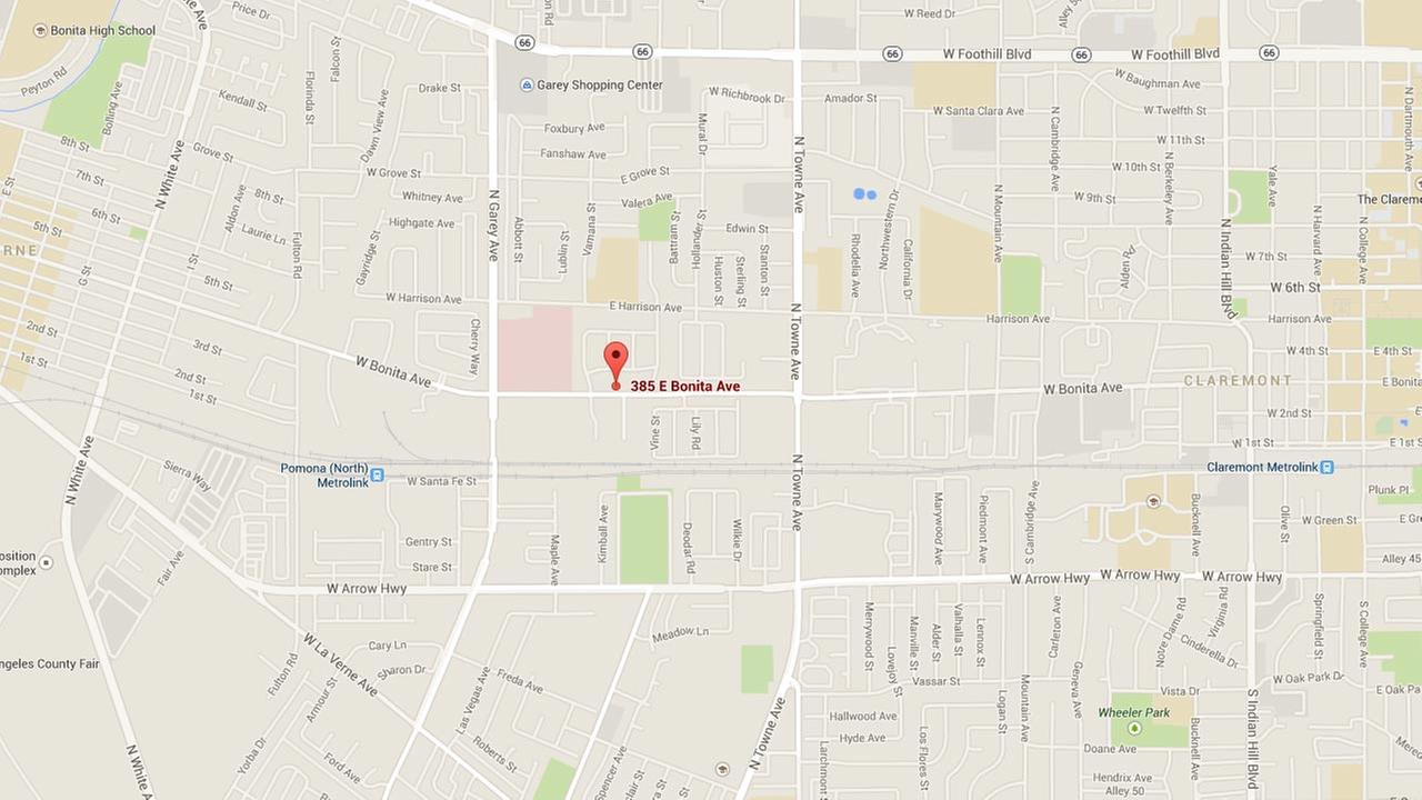 This Google Maps image shows the location of a drug bust in the 300 block of East Bonita Avenue in Pomona on Sunday, Sept. 28, 2014.