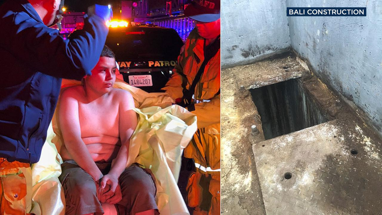 Jesse Hernandez, 13, was found after falling into a drainage pipe and spending more than 12 hours underground.