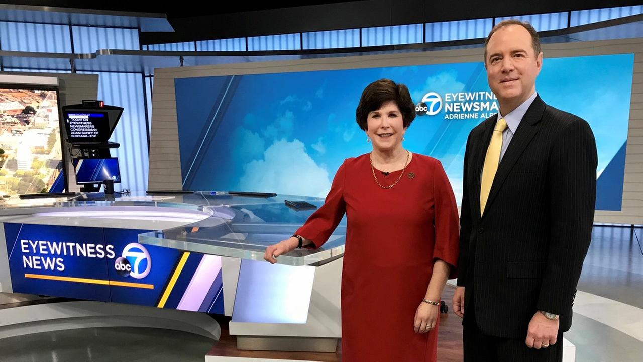 Rep. Adam Schiff was a guest on Eyewitness News, hosted by Adrienne Alpert.