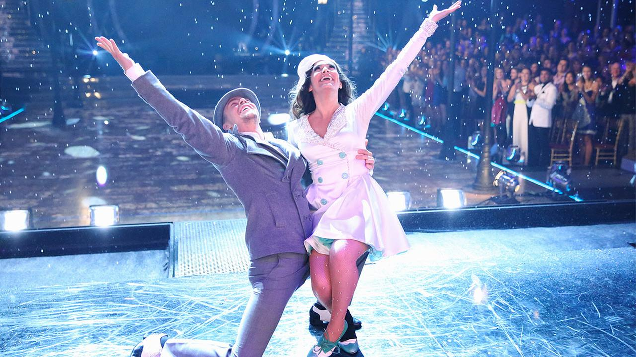 Bethany Mota and Derek Hough perform on Dancing With The Stars week 3 Movie Night on Monday, Sept. 29, 2014.