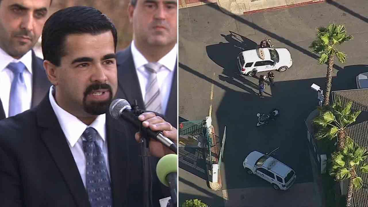 Bell Gardens Mayor Daniel Crespo was fatally shot in the 6300 block of Gage Avenue Tuesday, Sept. 30, 2014.