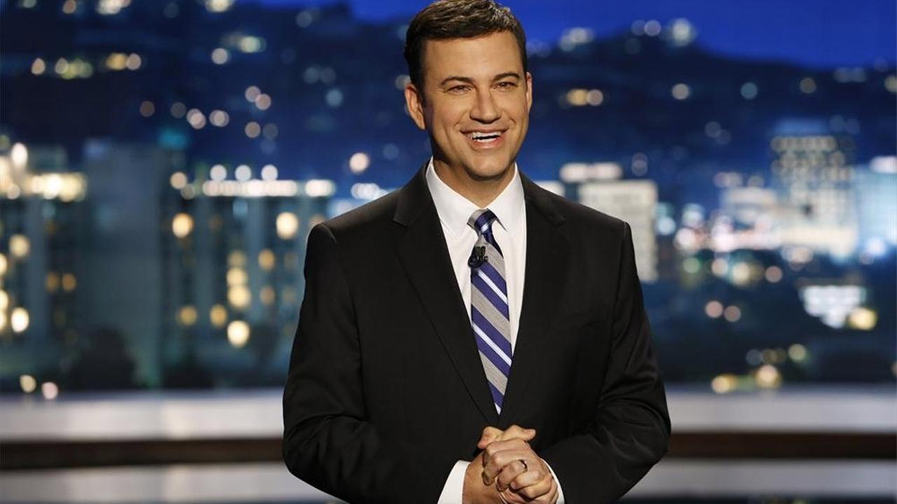Jimmy Kimmel is seen on the set of Jimmy Kimmel Live on Tuesday, Sept. 30, 2014.