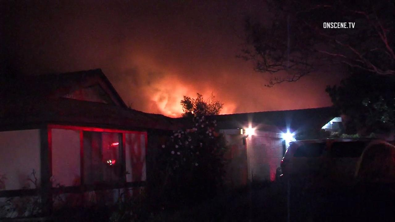 Fire ripped through a house in Claremont early Sunday morning.
