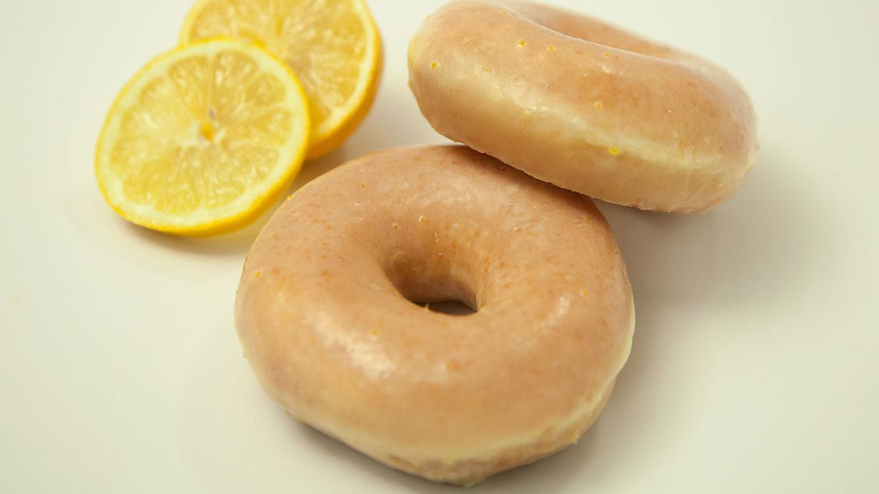 Krispy Kreme will serve a brand new Lemon Glaze Doughnut for a limited-time starting next week.