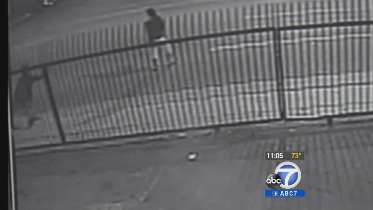Surveillance video has been released in the fatal shooting of a transgender woman in East Hollywood Thursday, Oct. 2, 2014.