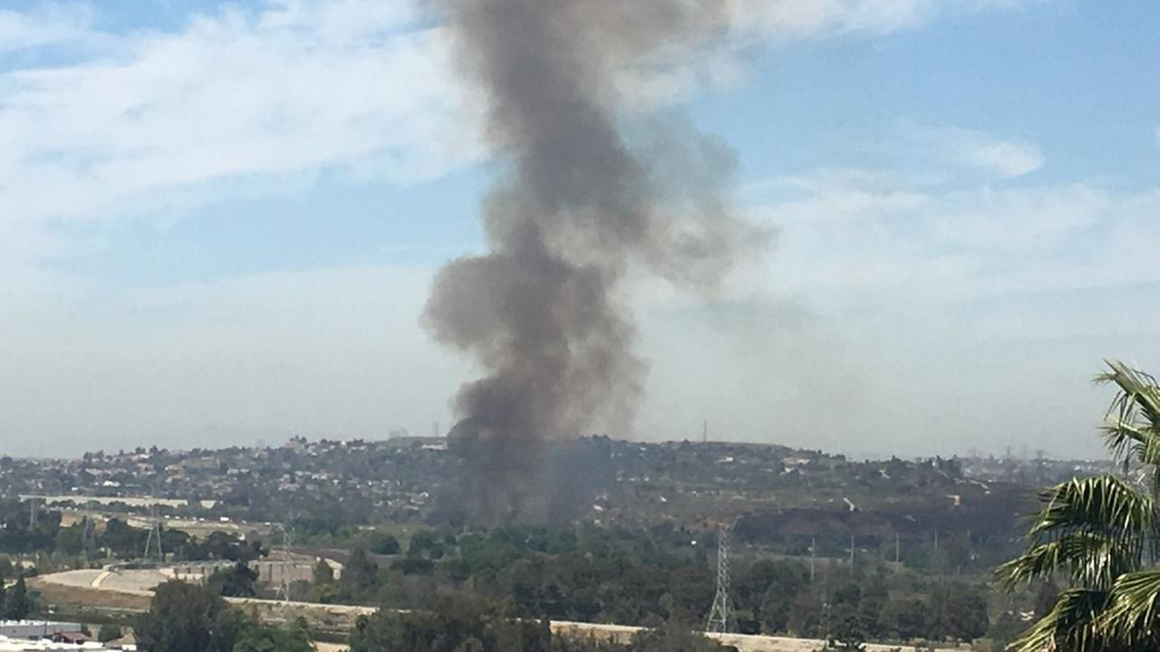 Firefighters from multiple agencies were responding Saturday afternoon to a small brush fire in Montebello, officials said.