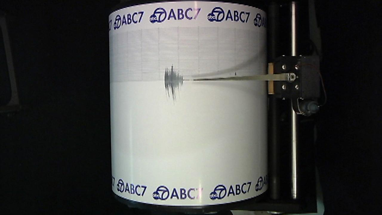 A 3.8-magnitude earthquake was captured on the ABC7 Quake Cam.